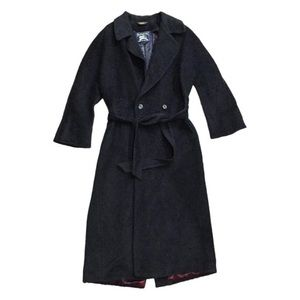 Burberry mohair and wool long trench coat